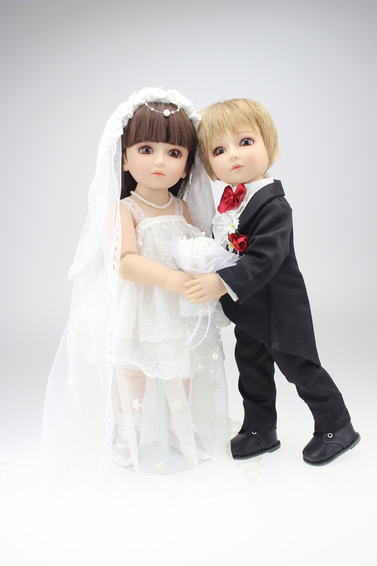 fashion 18 inch Ball Jointed Doll SD/BJD bride bridegroom Dolls toys 45 cm bjd american girls body for dolls gifts free shipping uncle 1 3 1 4 1 6 doll accessories for bjd sd bjd eyelashes for doll 1 pair tx 03
