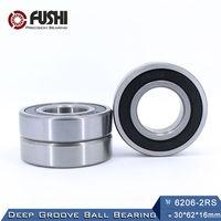 6206RS Bearing ABEC 3 1 PCS 30x62x16 Mm Deep Groove 6206 2RS Ball Bearings 6206RZ 180206