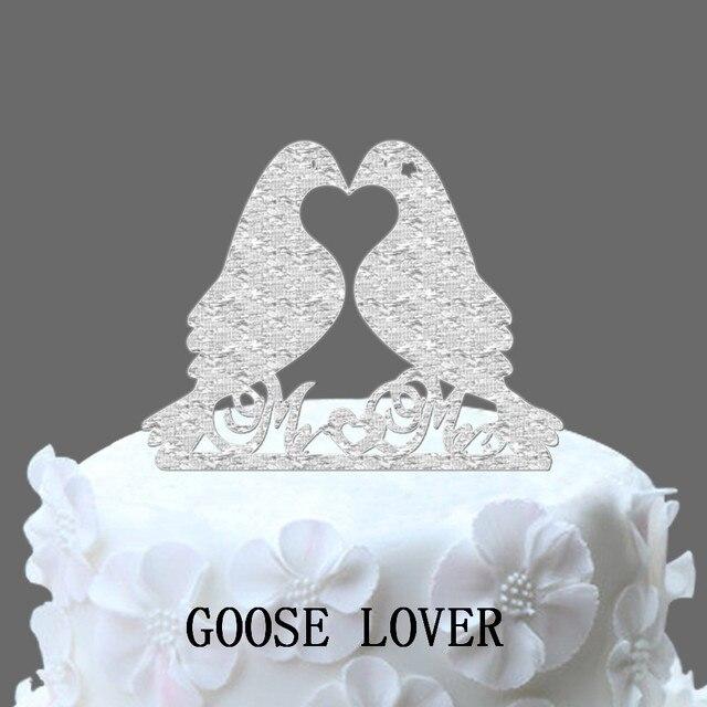 Unique 2 Birds Wedding Cake Topper, Birds Mr&Mrs Cake Accessory ...