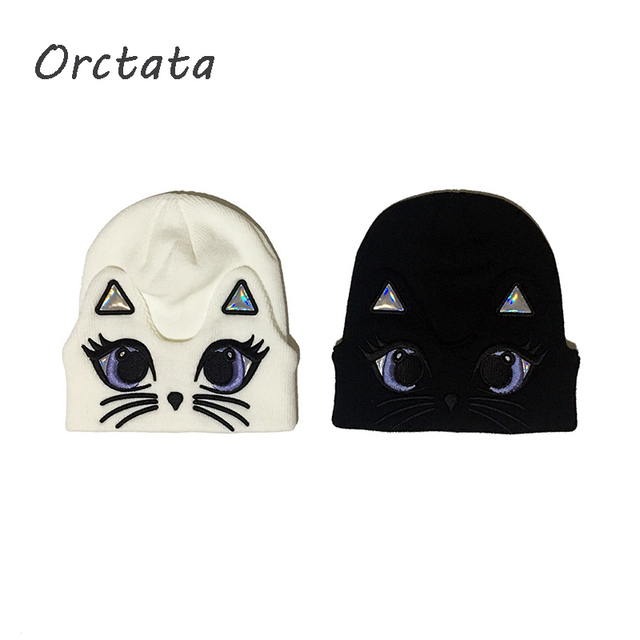 Fashion Women Winter Knit Beanies Hats Cute Animals Cotton Warm Skull Hats Spring Autumn Solid Knitted Skullies Cap for Female