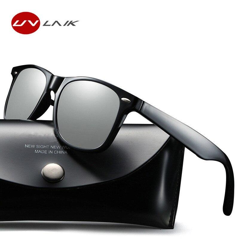 UVLAIK Classiche Da Uomo Polarizzati Occhiali Da Sole Donne Dell'annata Occhiali Da Sole Maschio Femmina Rivetto Shades Progettista di Marca di Guida occhiali da Sole UV400