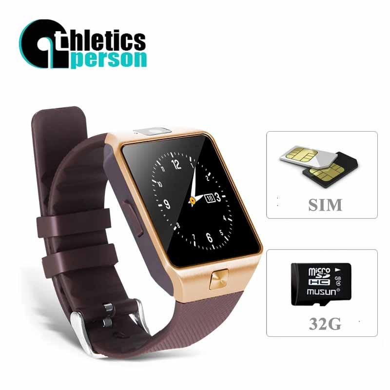 2016 New Smart Watch dz09 With Camera Bluetooth WristWatch SIM TF Card font b Smartwatch b