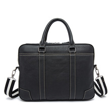 wholesale Vintage Handmade men's bag business top layer leather bag man retro computer bag cross section of the briefcase