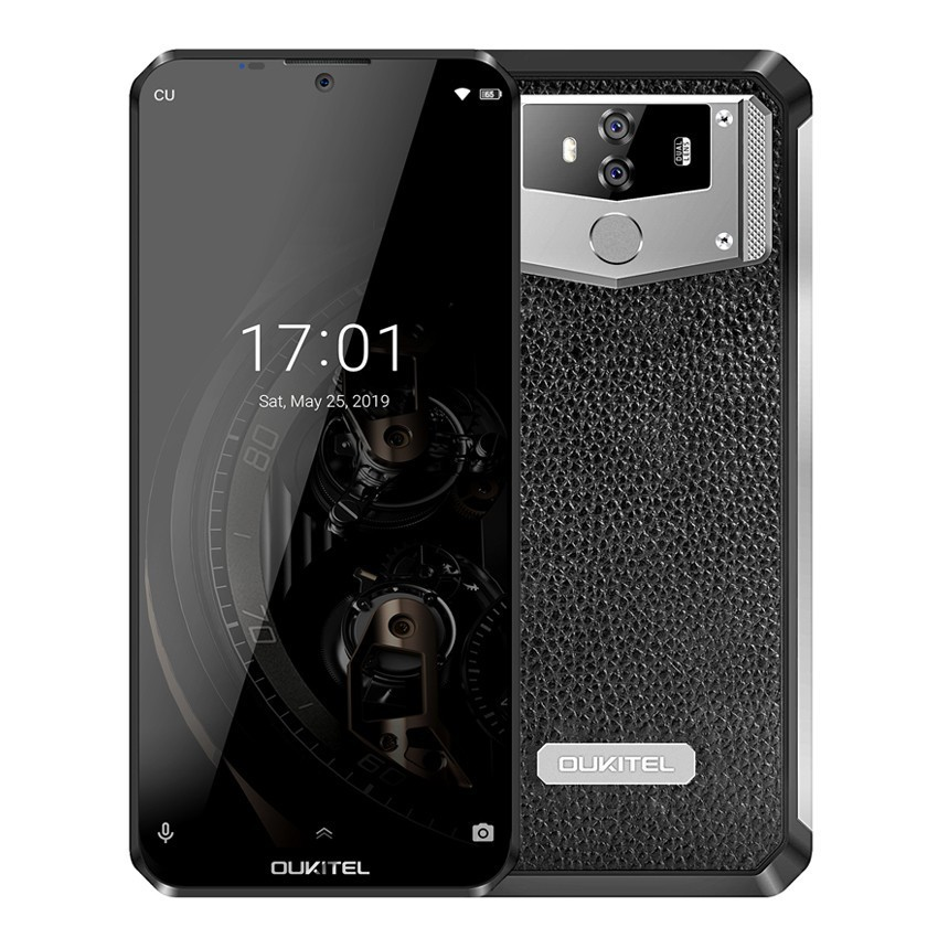 OUKITEL K12 Android 9.0 10000mAh Mobile Phone 6.3 inch MTK6765 6G RAM 64G ROM NFC 5V/6A Quick Charge Fingerprint 4G Smartphone