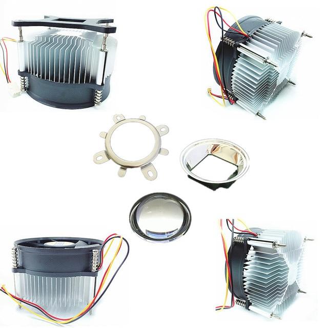 50 w 100 w high power led heatsink DC 12 V 1.2A led koelventilator + 44mm lens kit