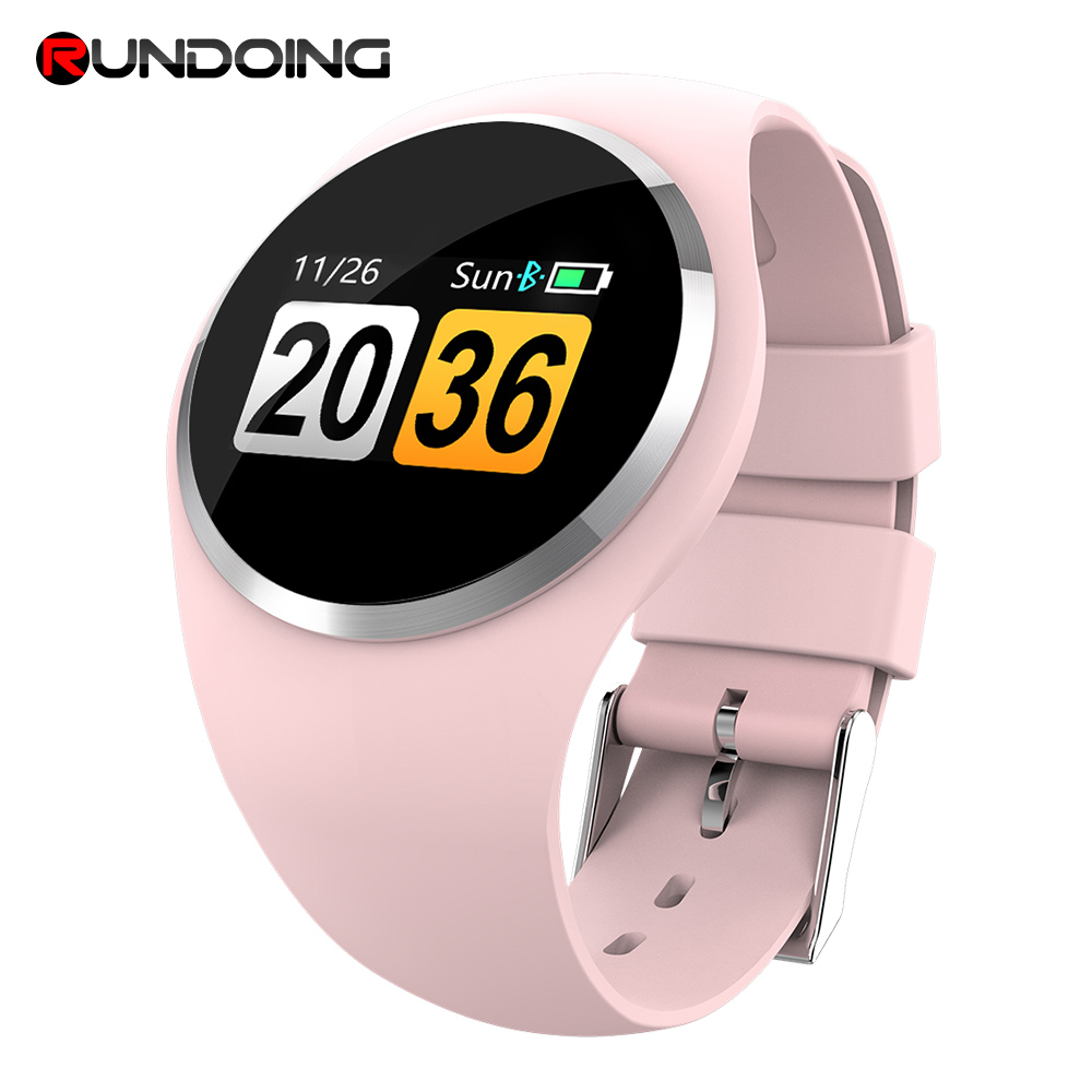 RUNDOING Q1 Color LCD Screen Smart Wristband Blood Pressure Heart Rate Monitor women smart band Fitness Tracker Smart Bracelet new garmin watch 2019