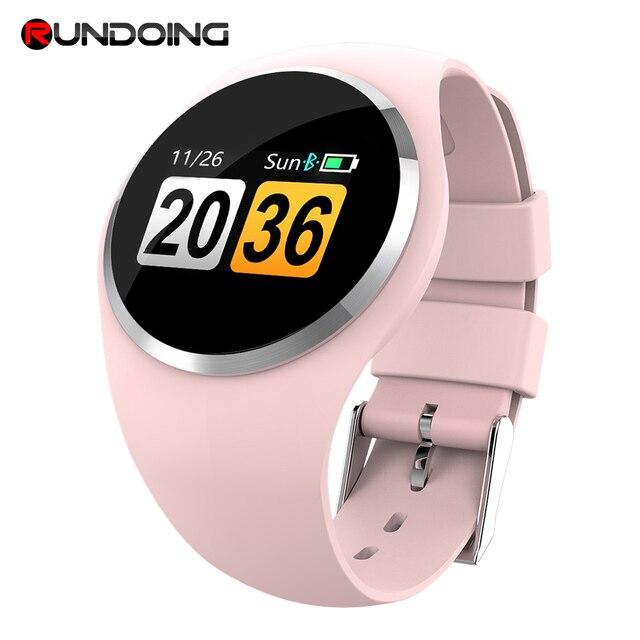 RUNDOING Q1 צבע LCD מסך חכם צמיד לחץ דם קצב לב צג נשים חכם להקת כושר גשש חכם צמיד