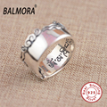 2016 New Fashion 100% Real 925 Sterling Silver Jewelry Six Words' Mantra Rings for Women Men Party Street Gift Jewelry SY20904