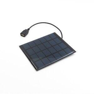 Image 3 - Solar Panel Charger 6V Solar Cell Polycrystalline DIY Solar Charge Battery cable 5V USB output Solar Panel 6VDC 2 3 5 6 10 20 W
