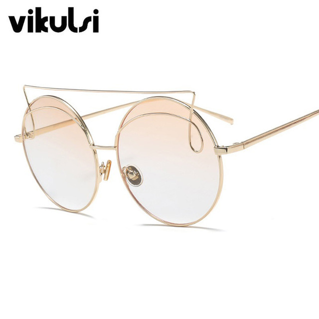 ede2f07ed43 Steampunk Oversized Round Sunglasses Fashion Women Large Size Big Retro  Mirror Sun Glasses Lady Female Vintage Brand Designer