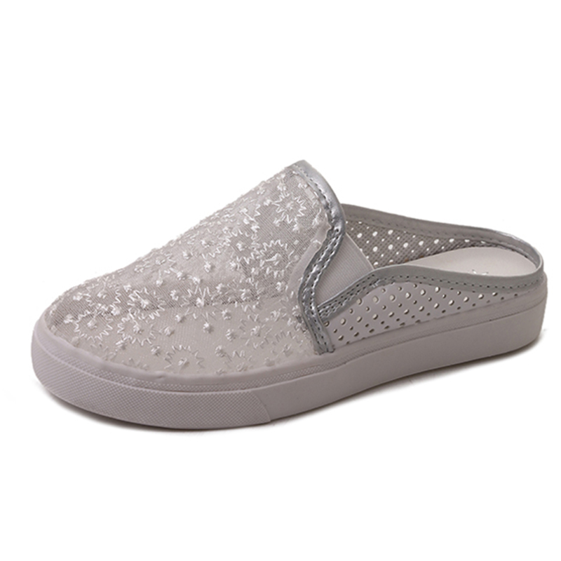 Moxxy Summer Flip Flop Women Flats Shoes Female Breathable Mesh Slippers Flats Ladies slip on flats Loafers shoes Beach Footwear forudesigns cartoon shark print women flats shoes sneakers casual women s summer mesh shoes beach girls loafers slip on zapatos
