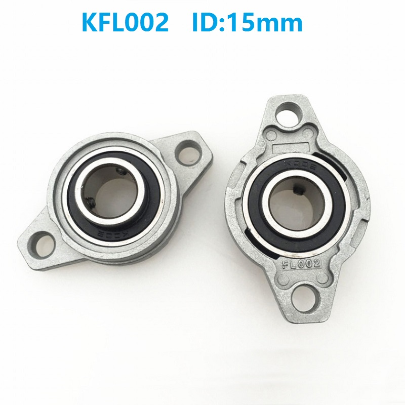 50pcs/lot <font><b>KFL002</b></font> 15mm Bore Diameter Zinc Alloy Bearing Units 15 mm Flange Pillow Block Bearing For CNC FL002 image