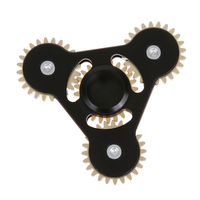 Toothed Gearing Anti Stress Fidget Spinner Metal EDC Toys Tri Hand Spinne Rfor Autism And ADHD