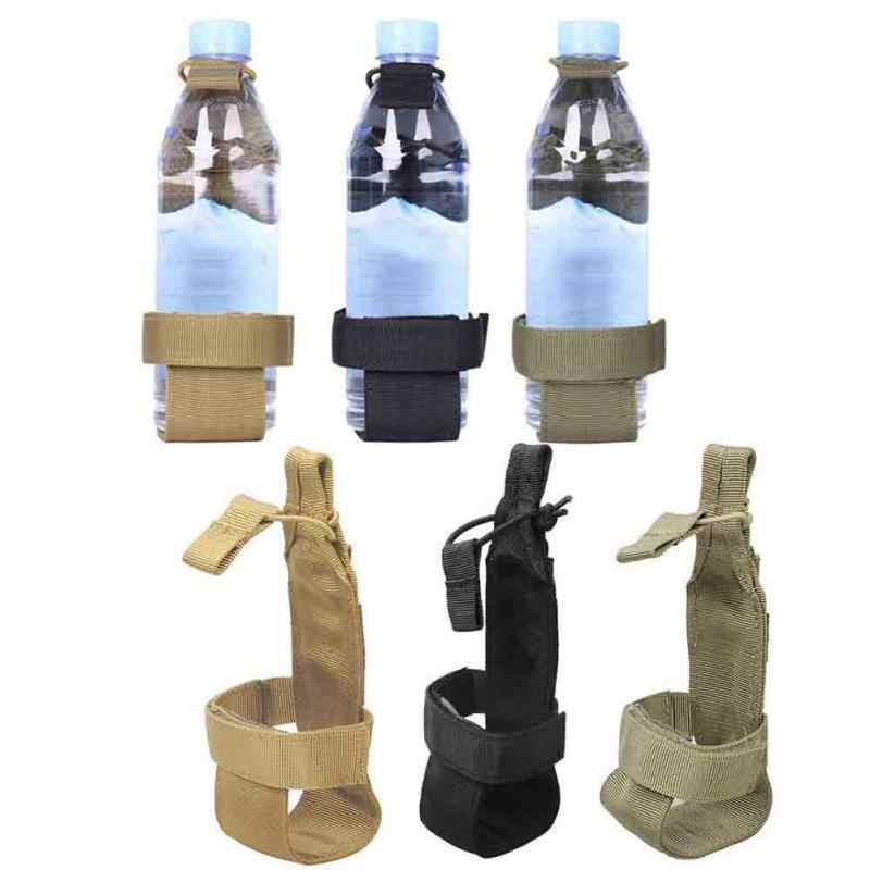 New Molle Tactical Nylon Webbing Buckle Hook Water Bottle Holder Carabiner Belt Backpack Hanger Outdoor Camping Hiking Belt Clip
