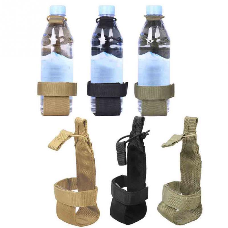 Black Strap Clip Water Drink Bottle Holder Hook Tactical Waist Belt Case Pack