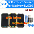 Blackview BV6000 LCD+Touch Display Screen High Quality 100% Original Digitizer Screen With Frame Earpiece For Blackview BV6000