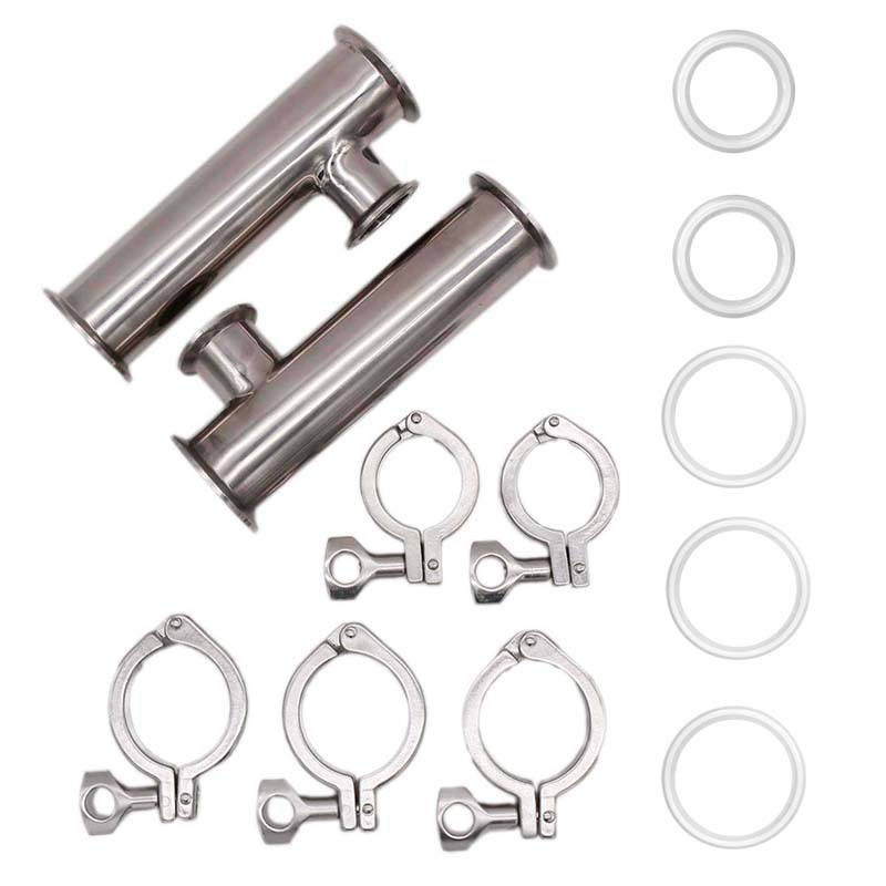 2 Tri Clamp RIMS Tube 304 Stainless Steel Sanitary Brewer Fitting