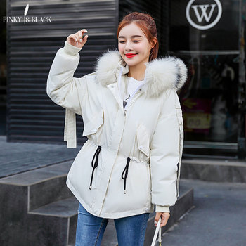 PinkyIsBlack Winter Coat Women Winter Jacket Women Short Parka Cotton-Padded Jacket Coat Women Wadded Jacket Big Fur Hooded 2020 parka winter women jacket fur collar hooded winter warm thick short parka winter coat outwear jacket