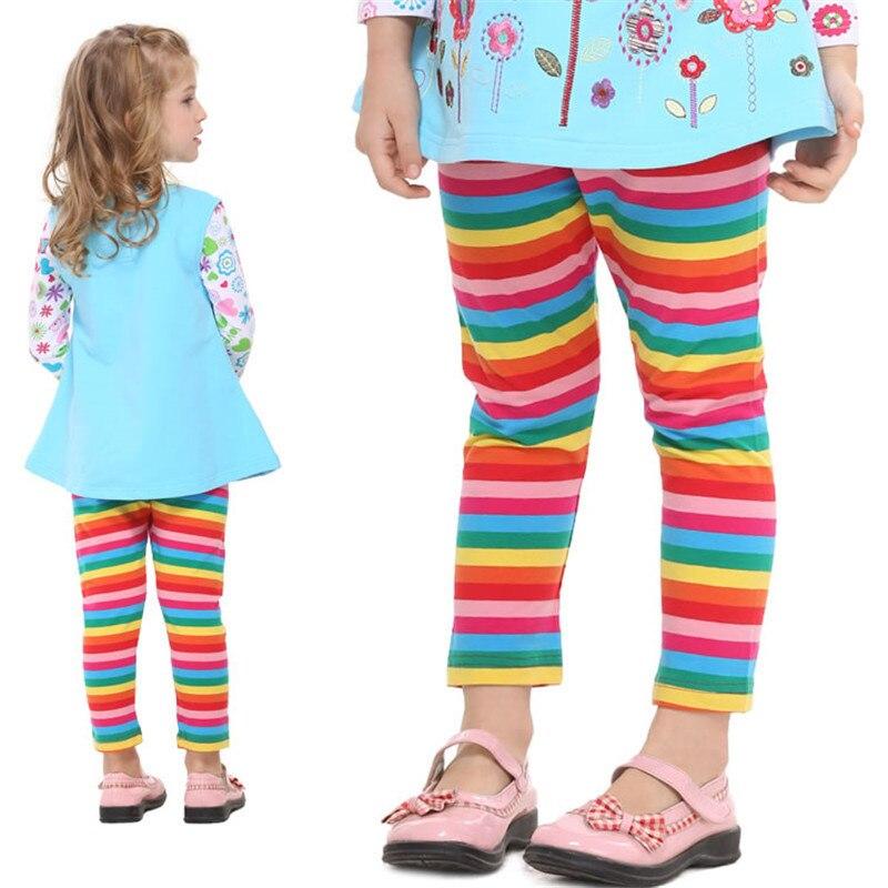 Girls Leggings Nova Girl Pants Brand Children Capris Pants Fashion Casual yarn dyed stripe Girl Legging cotton kids leggings