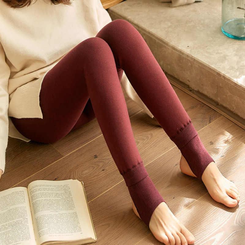 d7b2d74b3919 ... Warm Leggings For Women Winter Pants Plus Thick Warmer Fleece Velvet  Lined Leggins High Waist Slim ...
