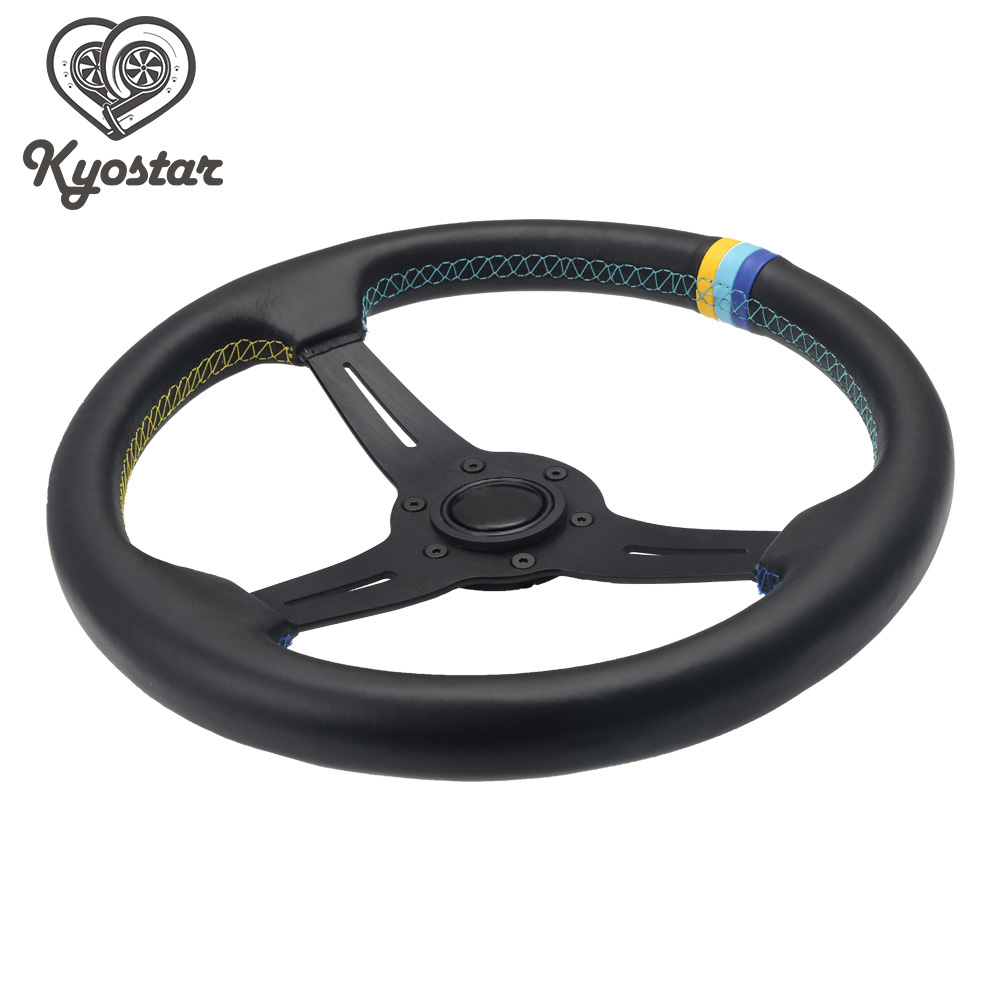 LQTENLEO Black Suede Leather Car Steering Wheel Cover for Volkswagen Golf 6 GTI MK6 VW Polo