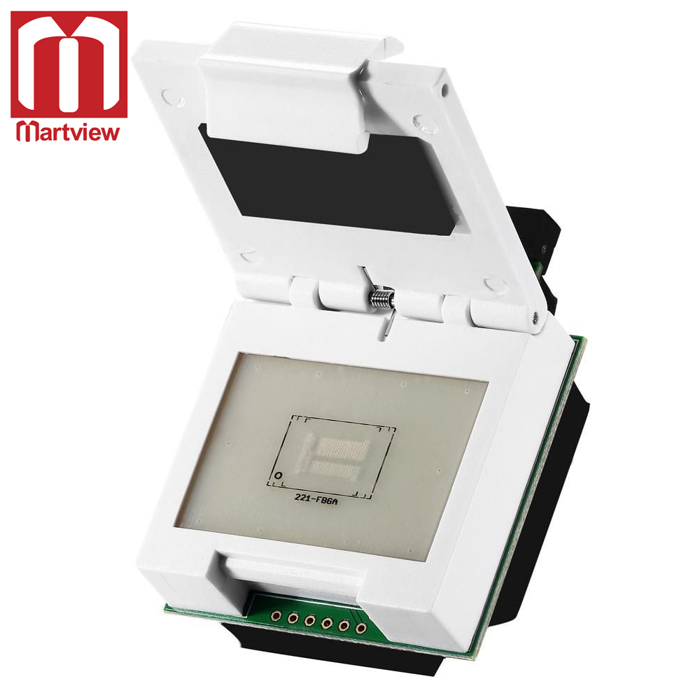 221-fbga Martview Emmc/emcp Socket Bga221 Test Socket Adapter For Ufi-box