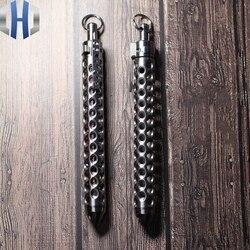 Diseño completo hueco aleación de titanio defensa pluma EDC equipo de herramientas