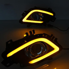 Car Styling For Mazda 6 ATENZA 2014 2015 2016 LED Daytime Running Front Fog Lights DRL 1SET(China)