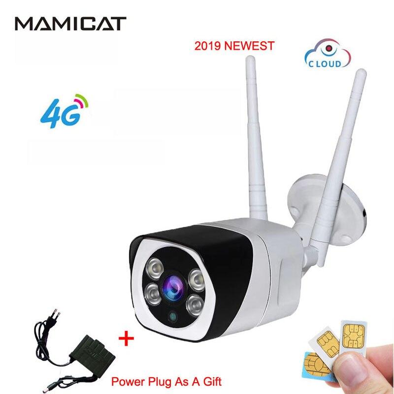 1080 P HD 3G 4G carte SIM caméra IP WIFI 4G les deux caméras sans fil extérieur IP66 étanche GSM P2P réseau nuage vidéo Cam