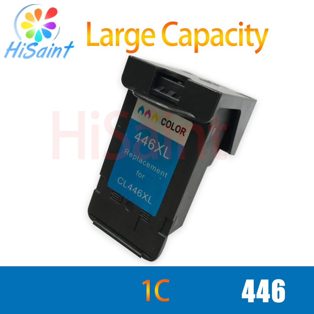 hisaint for canon 446 CL446 color printer ink cartridge for canon pixma ip2810 mg2410 mg2510 ink jet printerhot sale hot sale 1000ml roland mimaki mutoh textile pigment ink in bottle color lc for sale