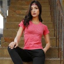 New Short Sleeve Yoga Tops Seamless Sportswear Crop Top Gym Fitness Sport T-shirt femme Workout For Women Shirts