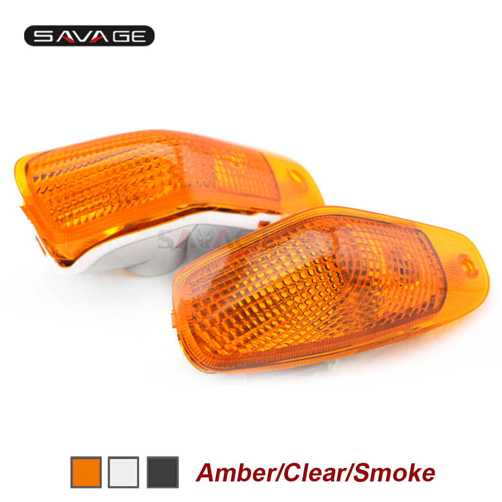 Front Turn Signal Light Lens For KAWASAKI ZZR400 ZZR600 ZZ-R ZZR 400/600 1994-2004 1997 1998 1999 2000 2001 2002 2003 Lamp Cover