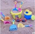 Baldes de praia brinquedo balde De areia de Plástico com brinquedos da areia da praia set jogar ferramenta pá juguetes de playa de dragagem do miúdo ao ar livre playa