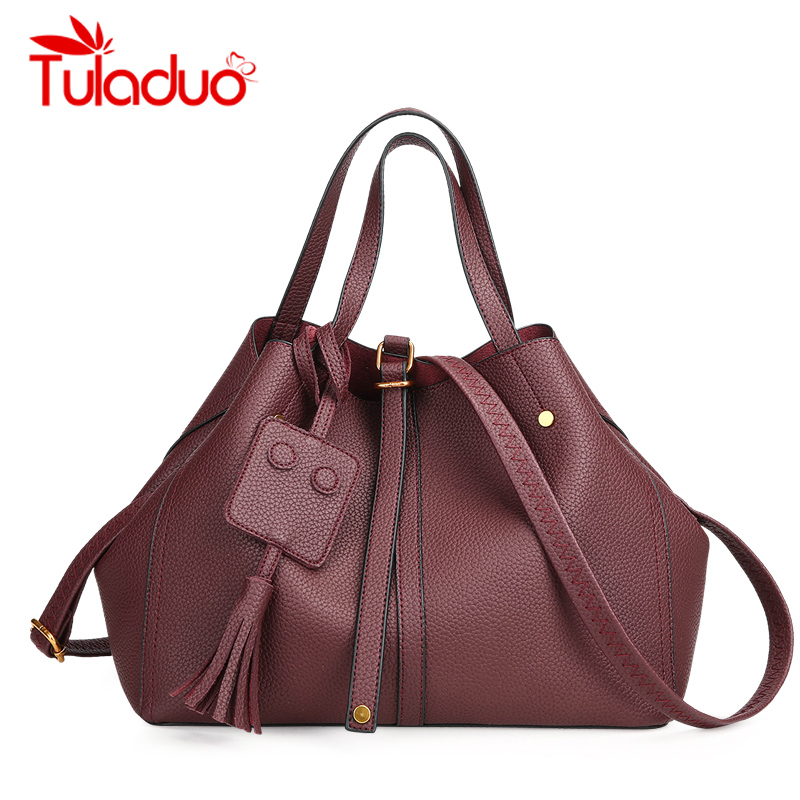 Luxury Handbag Women Shoulder Bags Designer Casual Tote Bags PU Leather New Rivet Bucket Bag Female Women Bag Large Capacity стоимость