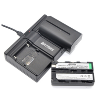 2Pcs 2600mAh NP F550 NP F530 NP F570 NP F550 F570 Batteries Dual USB Charger For