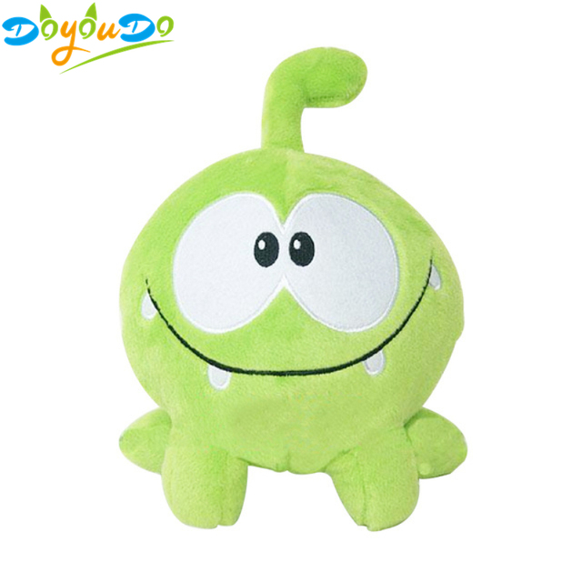 Om nom 20 centímetros Kawaii Brinquedo de Pelúcia Sapo Cortar a Corda de Borracha Macia Figura Jogo Clássico Brinquedos Linda Boneca de Presente para as crianças