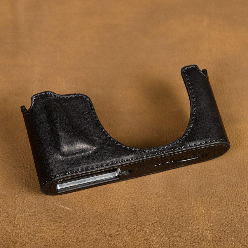 цена на [VR] Genuine Leather Camera case For Leica X XV miniM Typ107 X Typ 113 Handmade Camera Bag Half Body Cover Handle