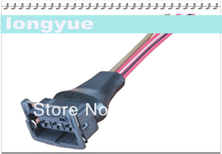 longyue 2pcs 3way Universal Female Connector wiring harness new 15cm wire LY-0013
