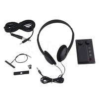Electric Violin Silent EQ Pickup Piezo With Headphone And Plug Hole Cable Set