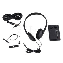 Yibuy Electric Violin Silent EQ Pickup Piezo with Headphone and Plug Hole Cable Set