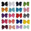 20pcs 8 Inch Large Solid Children Hair Bow Fashion Ribbon Hair Clips Hairpins Barrette Bowknot Headwear