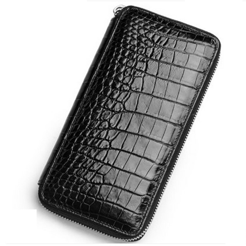 2018 ouluoer Crocodilemen clutch bag purse with a large capacity of leather belly and large capacity vectorial capacity of ticks