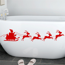 happy new year santa claus reindeer wall decals kids rooms window home decor merry christmas wall stickers vinyl wallpaper