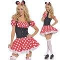 Новый Минни Маус Dress Взрослых Хэллоуин Костюмы для Женщин Минни Маус Костюм для Женщин Косплей Сексуальные Фантазии Женщин Оптовая