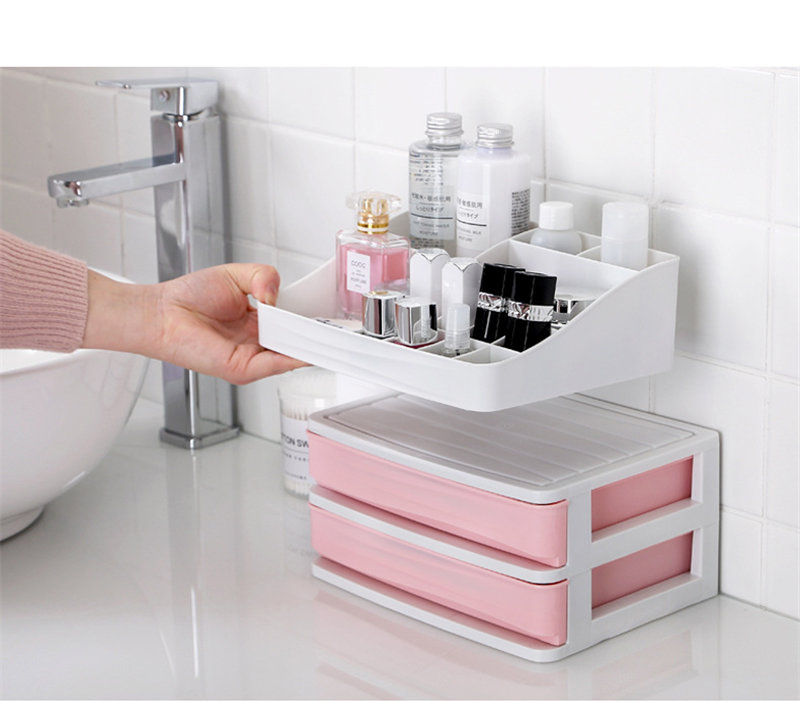 HTB15MbDbiDxK1Rjy1zcq6yGeXXay - JULY'S SONG Plastic Cosmetic Drawer Makeup Organizer Makeup Storage Box