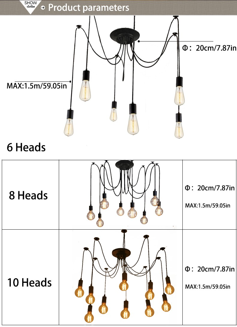 Please Kindly Confirm The Style Of Pendant Lamp Before Ing 3 If You Have Any Problems For This Item Contact Us First 4