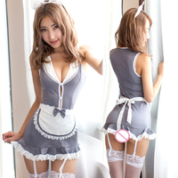 Sexy Maid Uniform Lingerie Sexy Hot Erotic Lingerie Women Lace Teddy Babydoll Dress Porn Maid Costumes