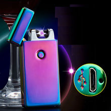 2017 new Dual Arc Electric USB Lighter cigarette lighter Rechargeable Flameless Torch Windproof Lighters Isqueiro Encendedor