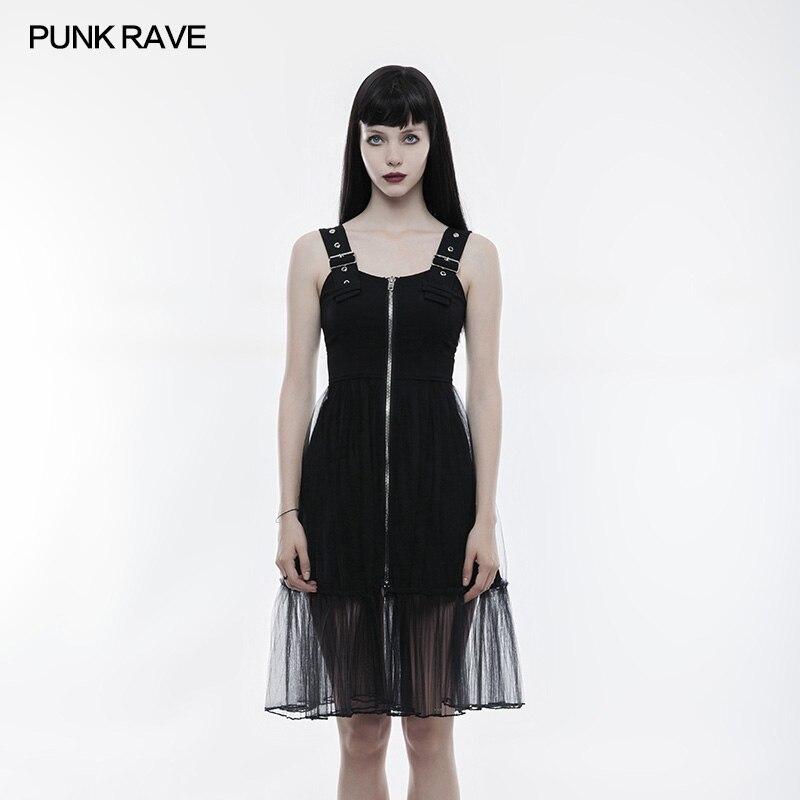 Punk Rave Victoria Punk Sexy dentelle sans manches robe à glissière Punk Rock mode livraison gratuite opq263