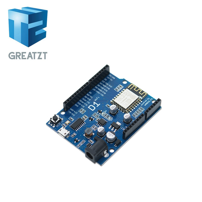 GREATZT Free Shipping Smart Electronics ESP-12F WeMos D1 WiFi Uno Based ESP8266 Shield For Arduino Compatible IDE